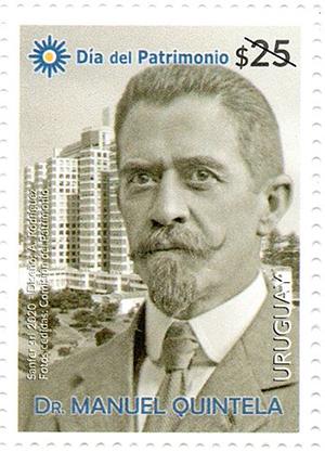 乌拉圭9月25日发行曼努埃尔・昆特拉邮票