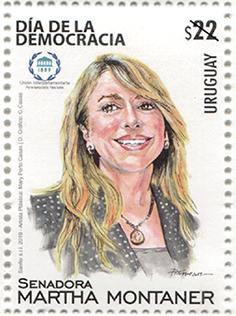乌拉圭9月16日发行参议员玛莎蒙塔纳邮票