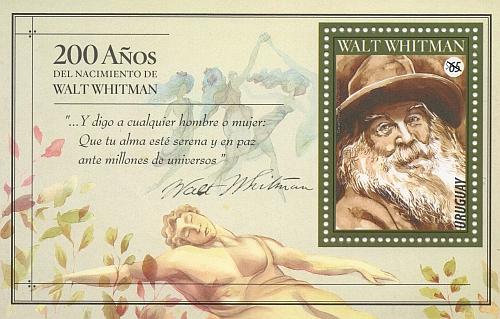 Retrato de Walt Whitman.